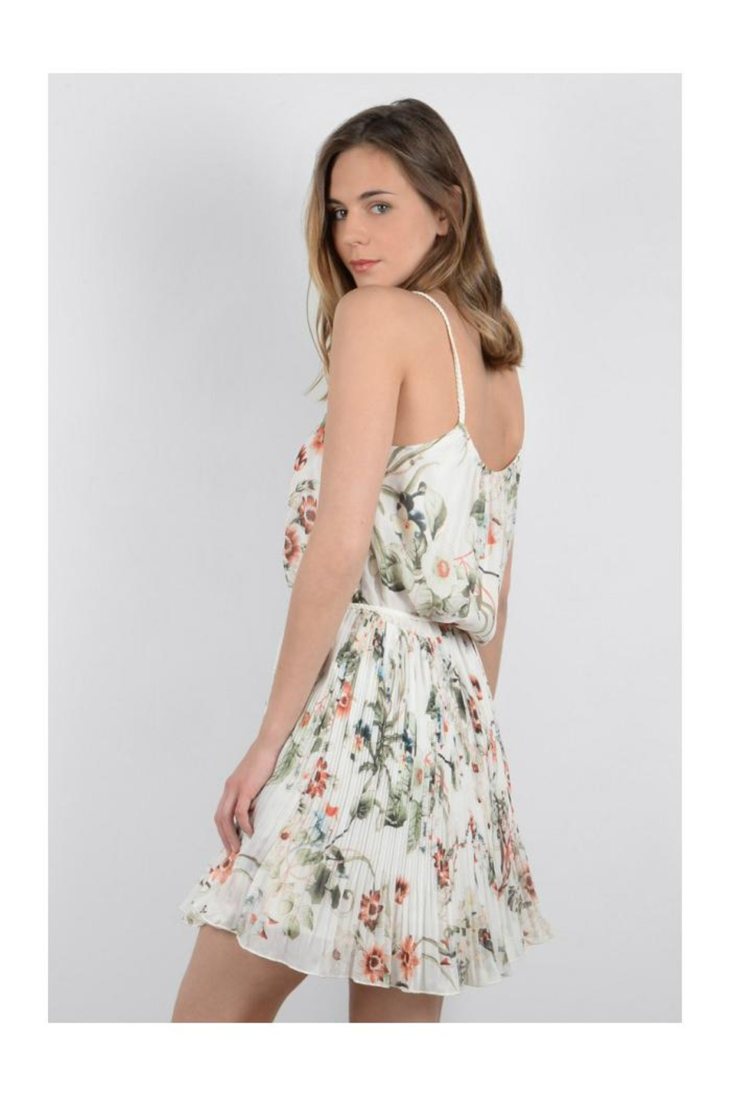 Molly Bracken Floral Sun Dress - Side Cropped Image