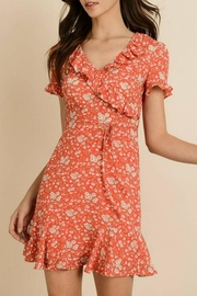 dress forum Floral Surplice Dress - Product Mini Image