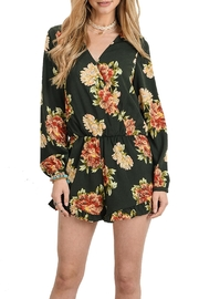 Doe & Rae Floral Surplice Romper - Product Mini Image