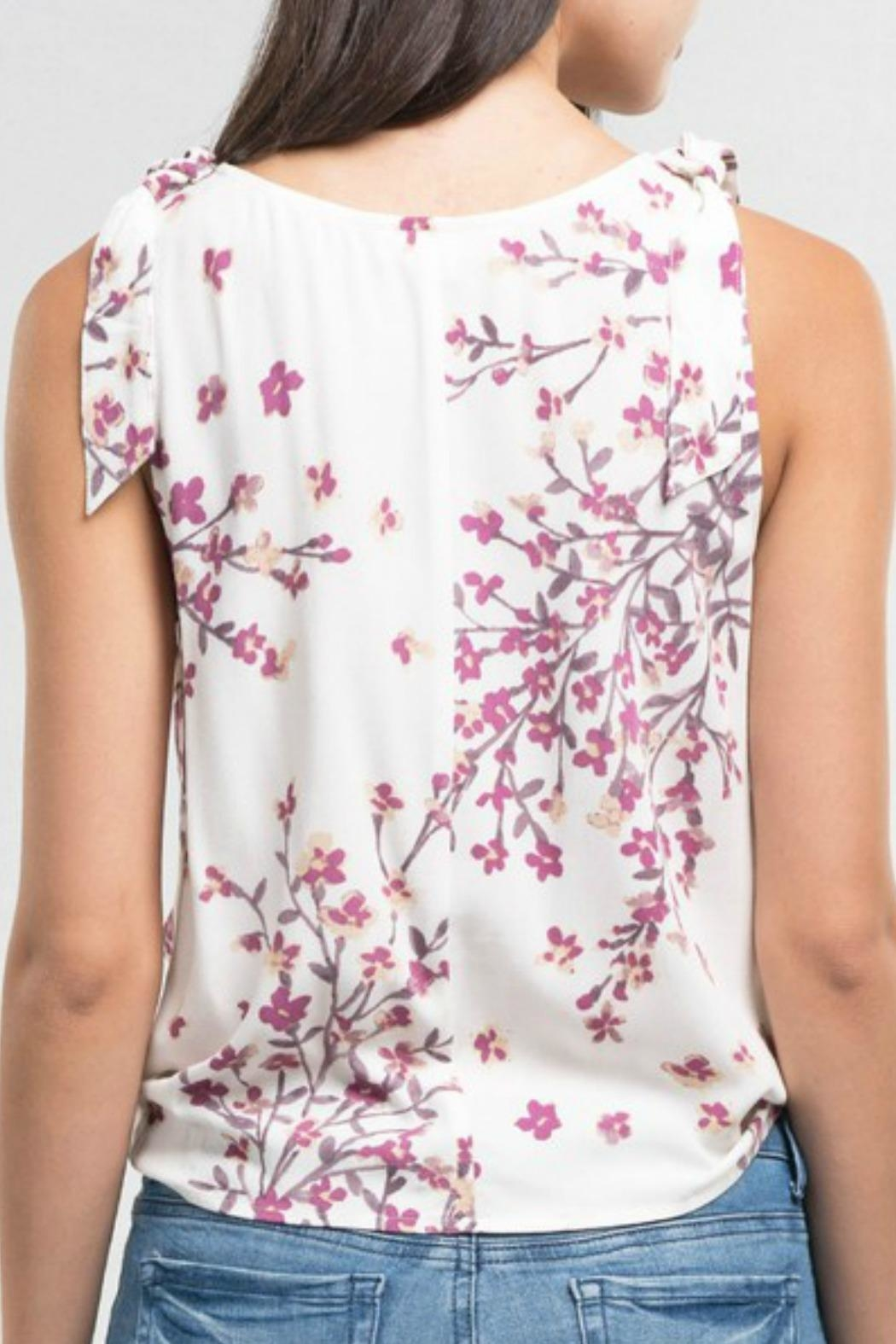 Lovestitch Floral Surplice Tank - Front Full Image