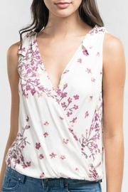 Lovestitch Floral Surplice Tank - Product Mini Image