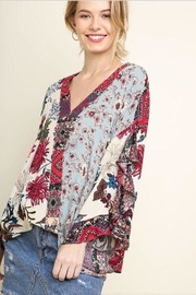 Umgee USA Floral Surplice Top - Product Mini Image