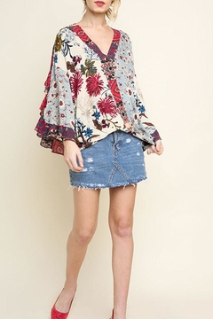 Shoptiques Product: Floral Surplice Top