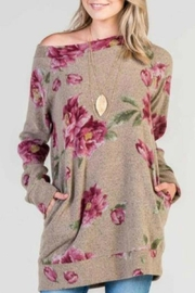 Bellamie Floral Sweater - Front cropped