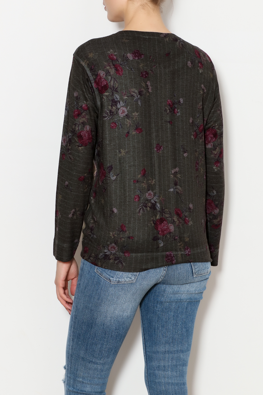Nally & Millie Floral sweater - Back Cropped Image
