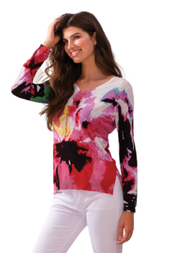 Alison Sheri Floral Sweater - Product List Image