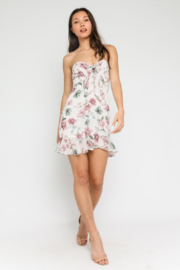 Olivaceous Floral Sweetheart Dress - Side cropped
