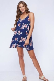 Peach Love California Floral Swing Dress - Product Mini Image