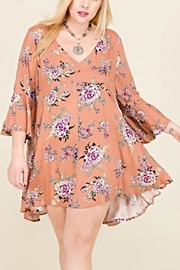 Janette Plus Floral Swing Tunic - Product Mini Image