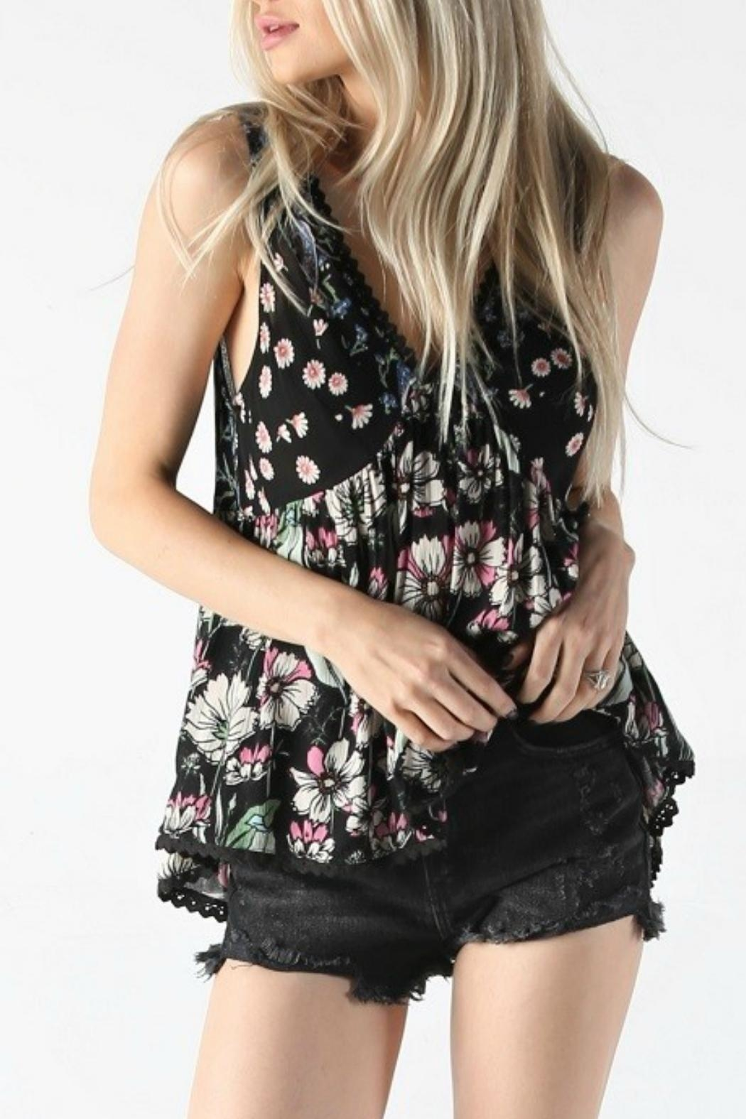 Angie Floral Tank - Front Full Image