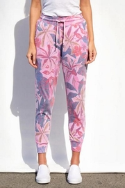 Sundry Floral Tapered Sweatpants - Product Mini Image
