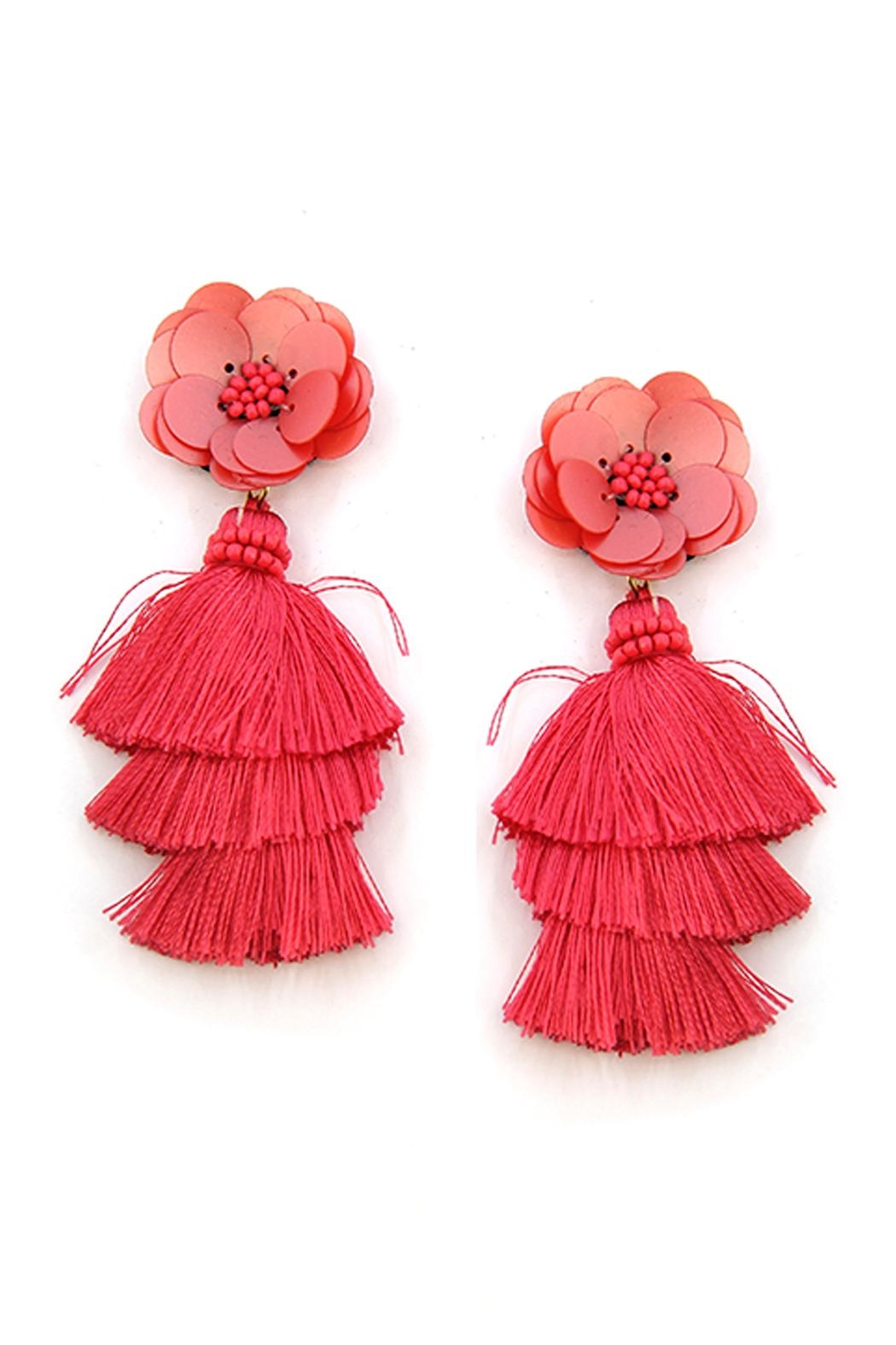 Wild Lilies Jewelry  Floral Tassel Earrings - Main Image