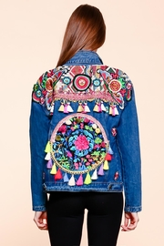 Velzera Floral-Tassel Embroidered Jacket - Product Mini Image