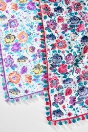 Giftcraft Inc.  Floral Tassel Scarf - Front full body