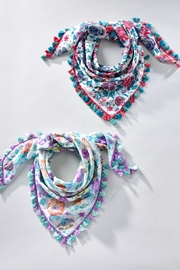 Giftcraft Inc.  Floral Tassel Scarf - Front cropped