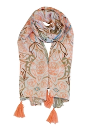 Simply Noelle Floral Tassle Scarf - Front cropped