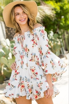 Blue B Floral the Right Reasons Romper - Product List Image