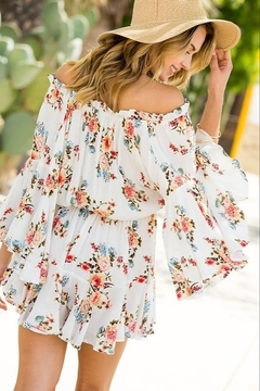 Blue B Floral the Right Reasons Romper - Alternate List Image