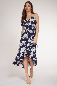 Dex Floral Thin Strap Dress w Ruffle - Product List Image
