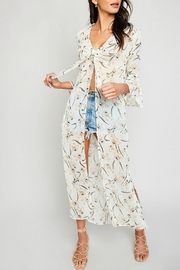 Hayden Floral Tie-Front Cover-Up - Product Mini Image