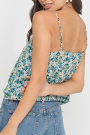 Lush  Floral Tie Front Tank - Side cropped