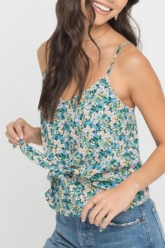 Lush  Floral Tie Front Tank - Product List Image