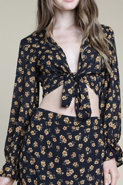 Wild Honey Floral Tie-Front Top - Product Mini Image