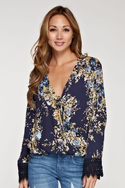 Lovestitch Floral Tie-Front Top - Product Mini Image