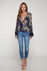 Lovestitch Floral Tie-Front Top - Other