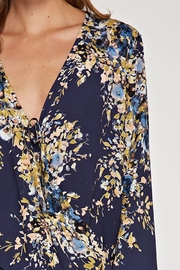 Lovestitch Floral Tie-Front Top - Front full body