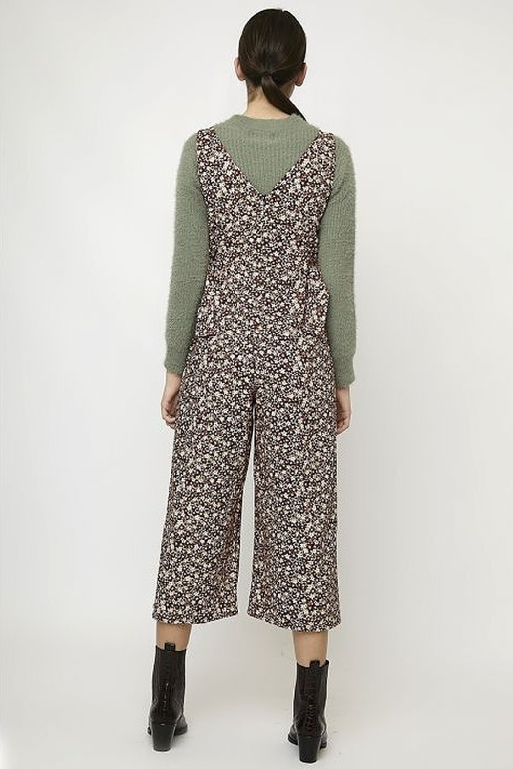 Compania Fantastica Floral Tie Jumpsuit - Front Full Image