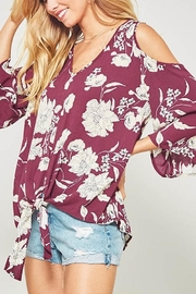 Promesa USA Floral Tie Tee - Front cropped