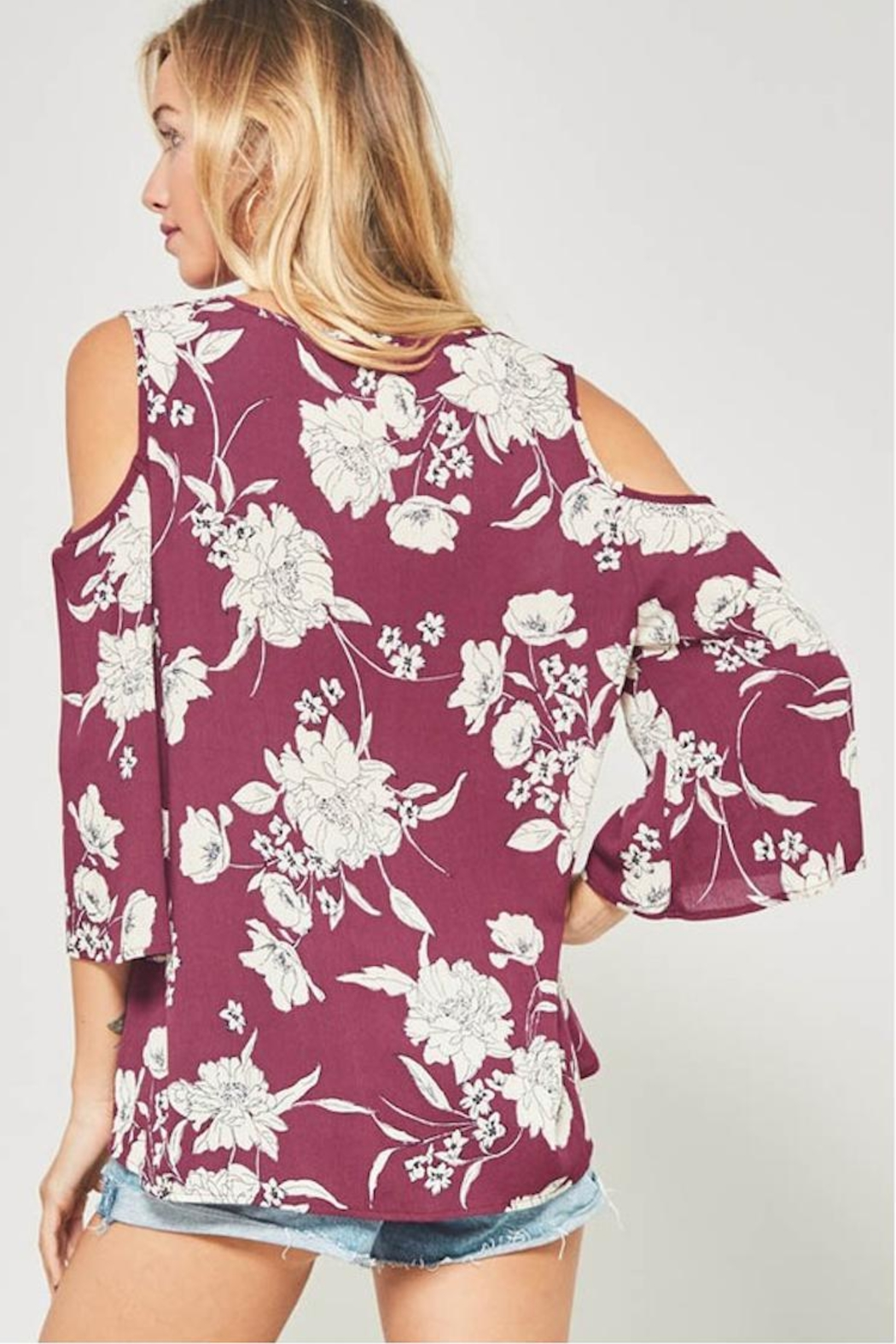 Promesa USA Floral Tie Tee - Side Cropped Image