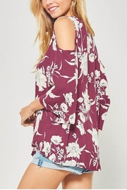 Promesa USA Floral Tie Tee - Front full body