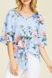 White Birch Floral Tie Top - Product Mini Image