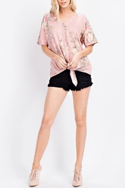 143 Story Floral Tie Top - Product Mini Image