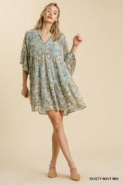 Umgee  Floral Babydoll Dress - Front full body