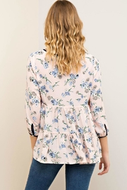 Entro Floral Tiered Blouse - Side cropped