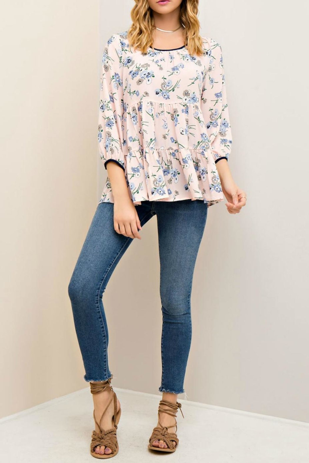 Entro Floral Tiered Blouse - Main Image