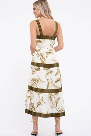 By the River Floral Tiered Midi Dress - Side cropped