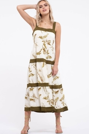 By the River Floral Tiered Midi Dress - Front cropped