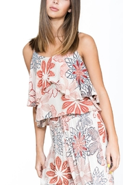 En Creme Floral Tiered Tank - Product Mini Image