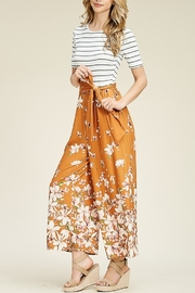 Lyn -Maree's Floral to Stripe Jumpsuit - Product Mini Image
