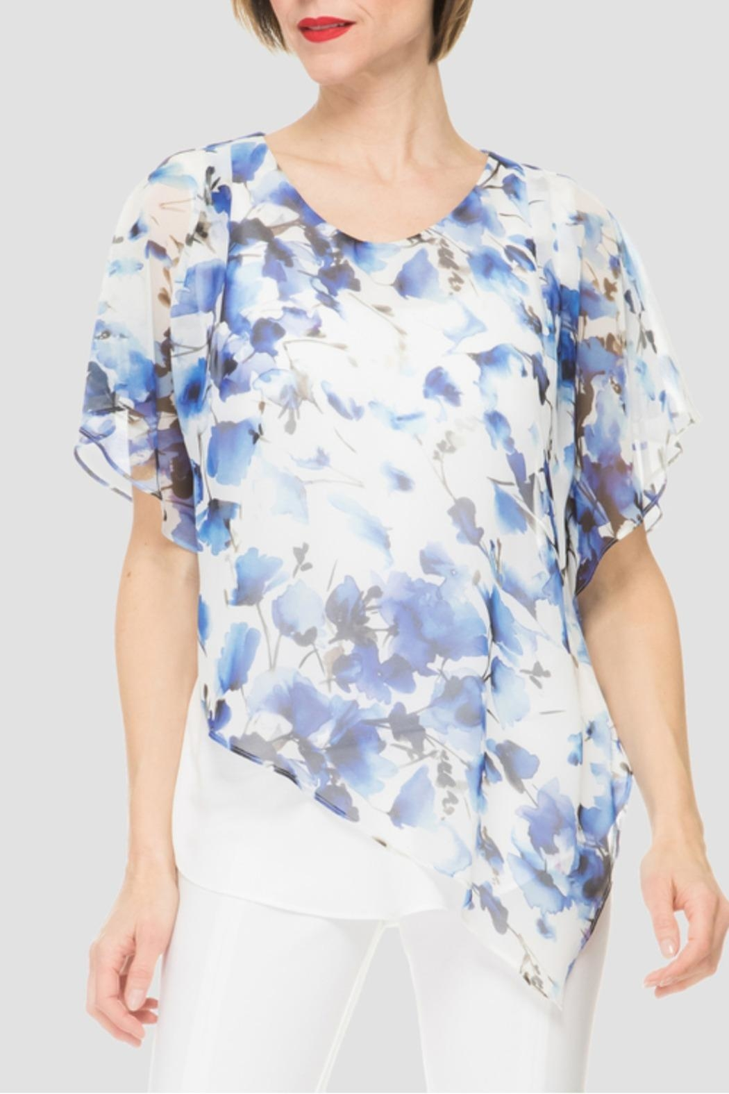 Joseph Ribkoff Floral Top - Front Cropped Image