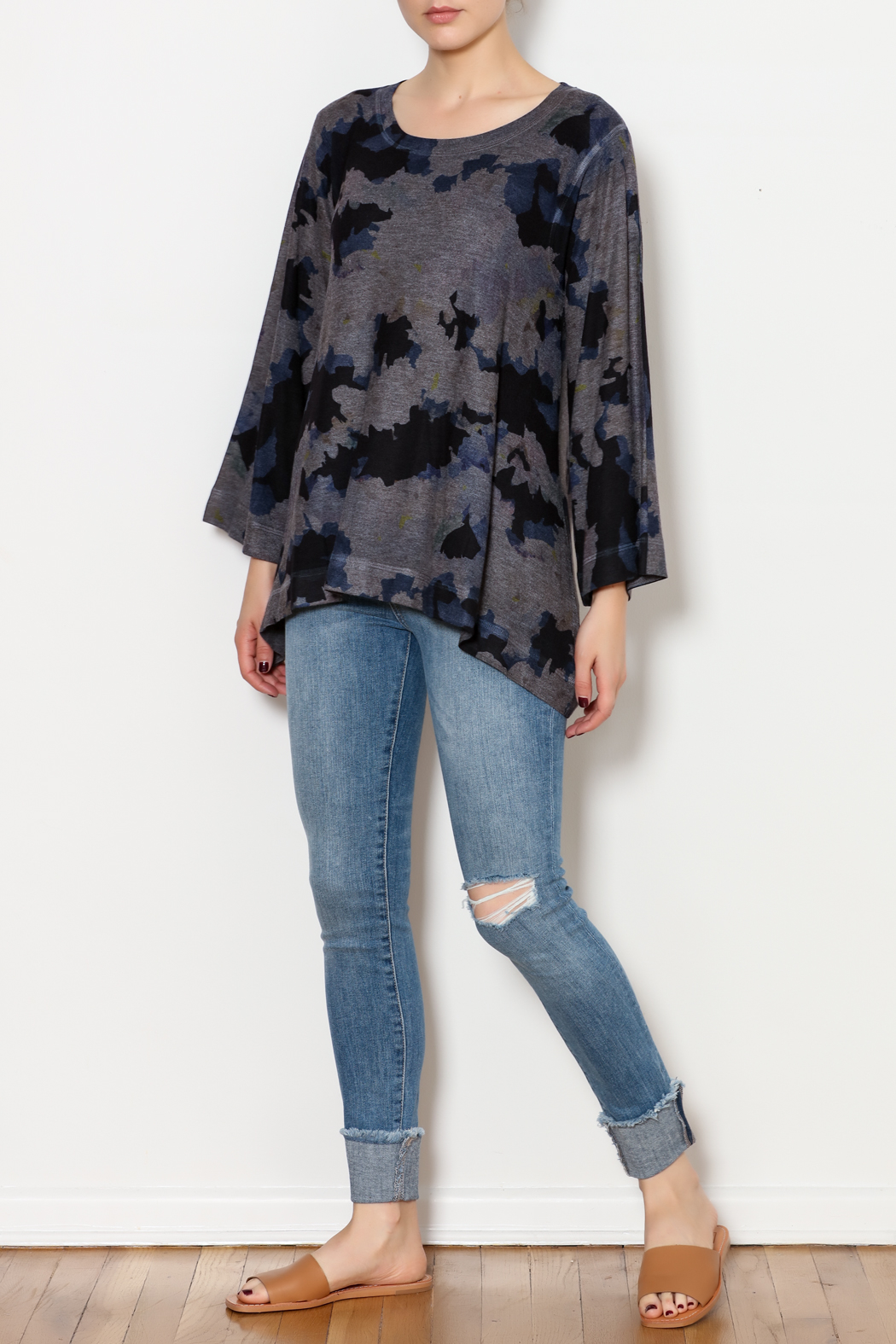 Nally & Millie Floral Top - Side Cropped Image