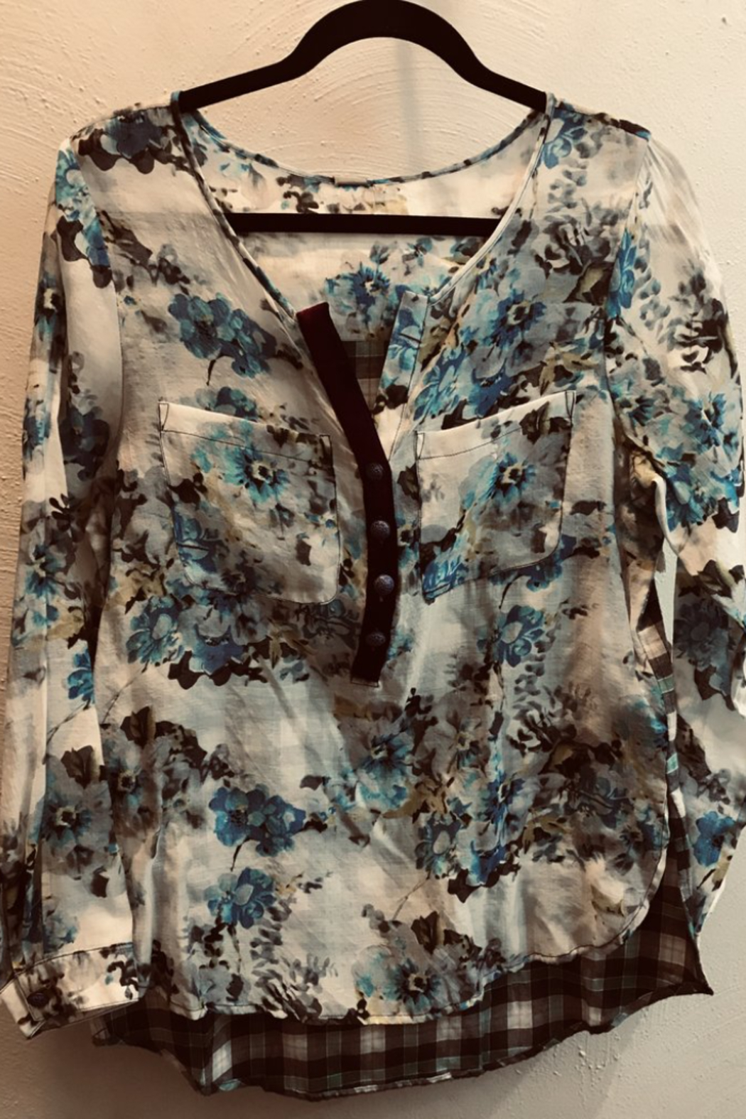 ARATTA  Floral Top with Flannel Back - Main Image