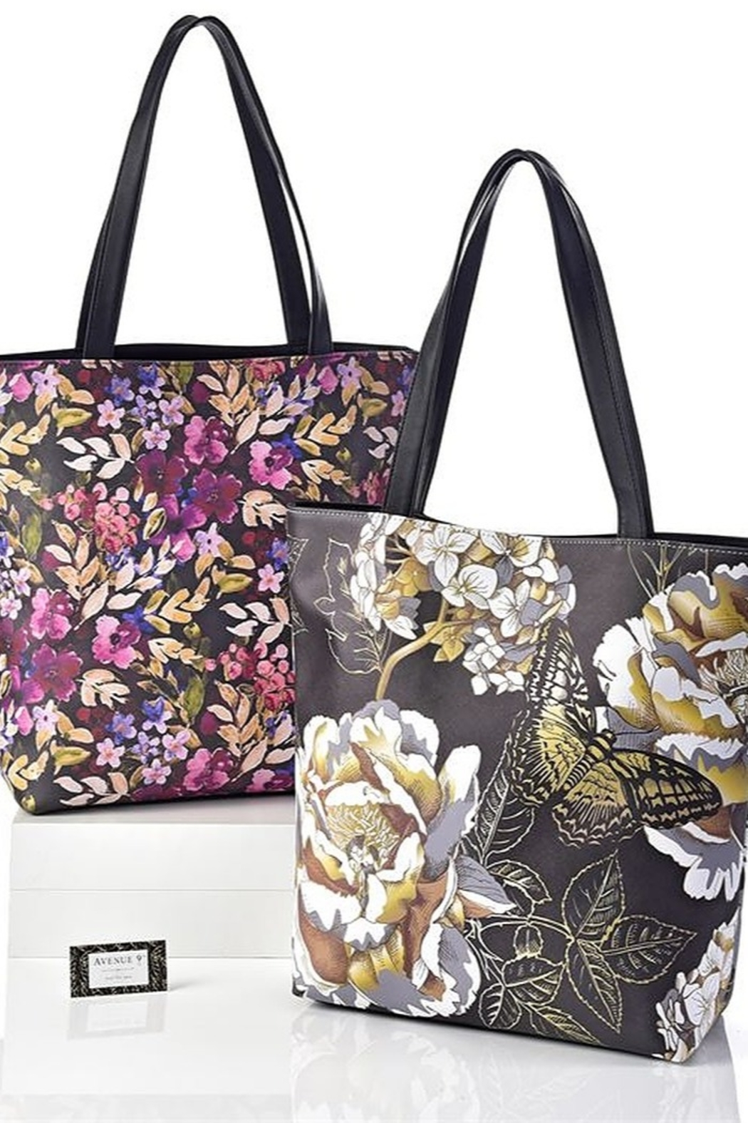 Gift Craft Floral tote purse - Front Full Image