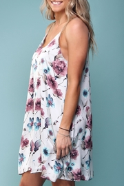 Peach Love California Floral Trapeze Dress - Other