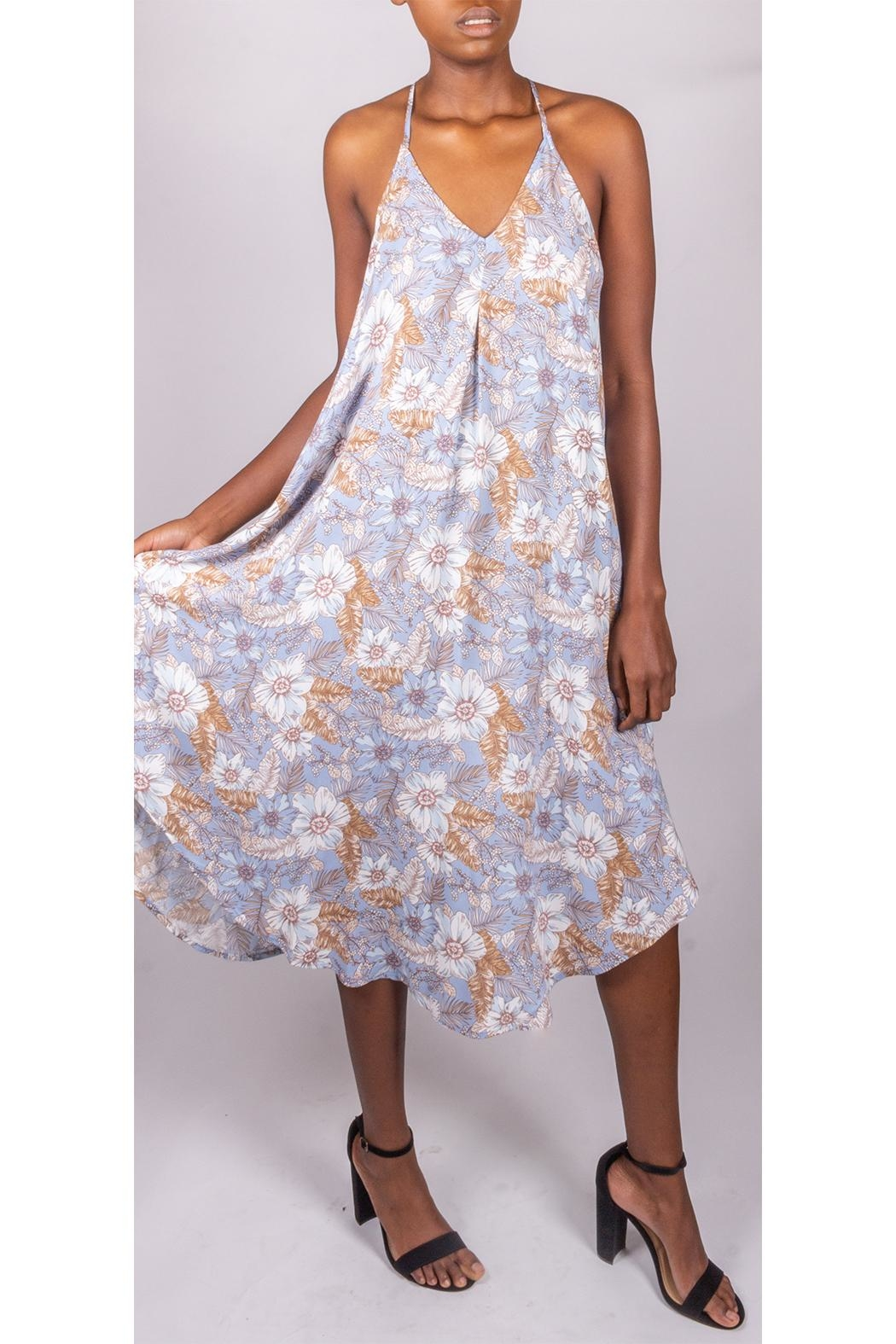 Final Touch Floral Trapeze Dress - Side Cropped Image