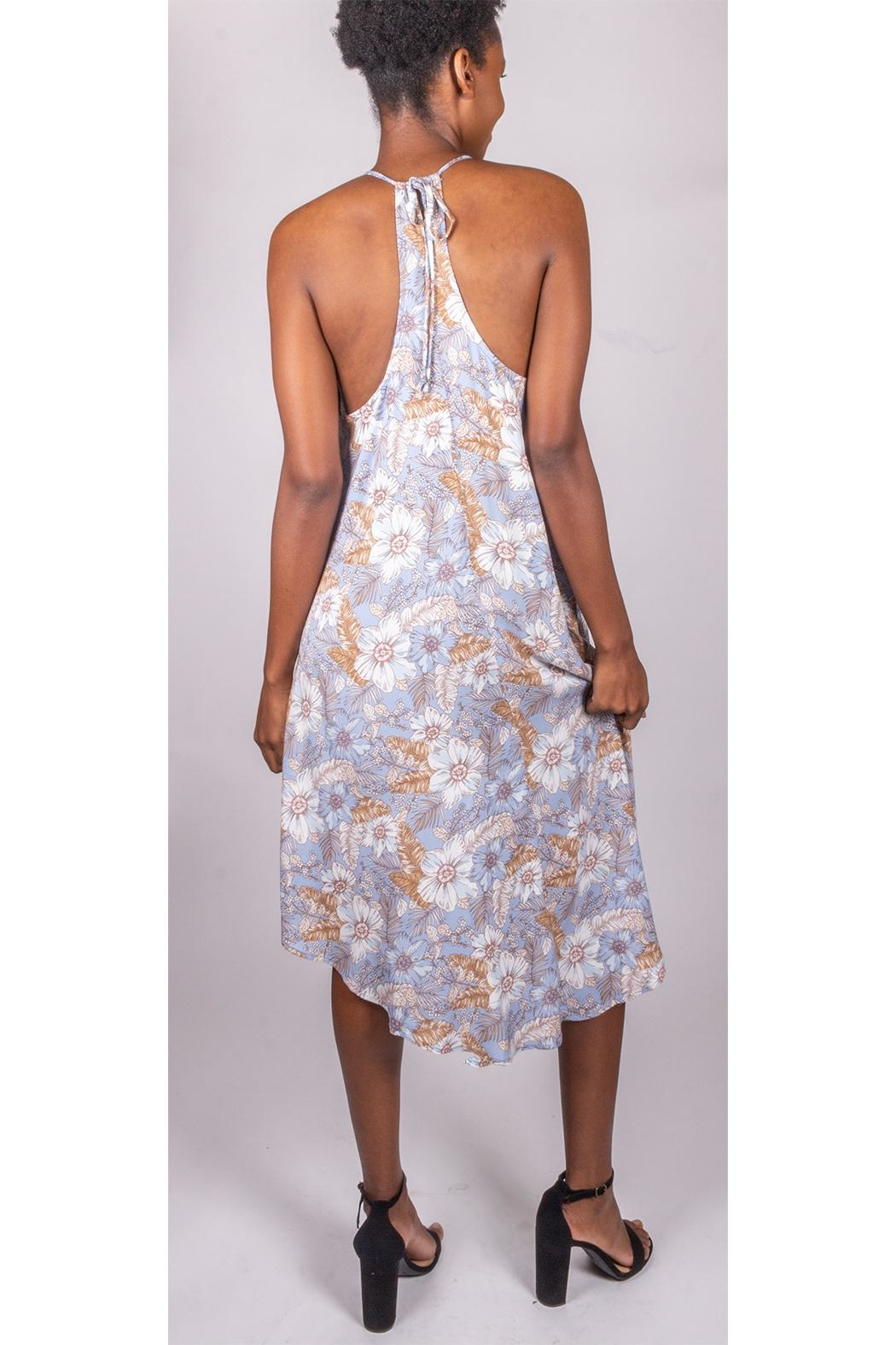 Final Touch Floral Trapeze Dress - Back Cropped Image